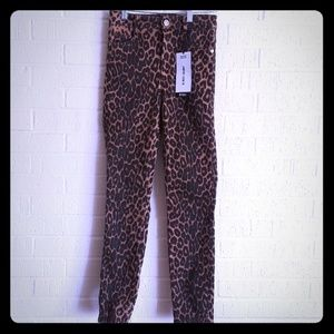 Zara leopard Hi-Rise skinny jeans NWT